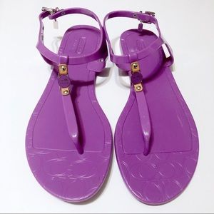🍍 3/$15 COACH Purple Jelly Picadilly Sandals